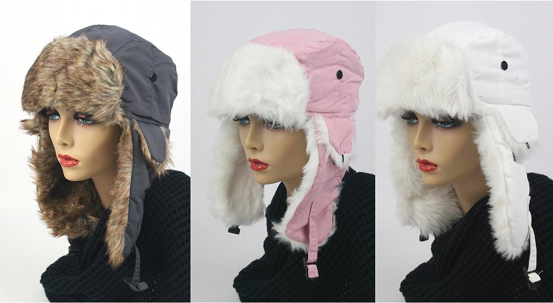 Pop Fashionwear 3 Pcs Women's Trapper Winter Ear Flap Hat P136