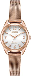 Women's Drive Quartz Stainless Steel Strap, Rose Gold, 12...