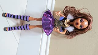 """Mattel Year 2012 Monster High """"Ghoul's Alive!"""" Series 11 Inch Electronic Doll Set - CLAWDEEN WOLF """"Daughter of The Werewolf"""" with Closing Eyes and Howling Sound Plus Doll Stand"""