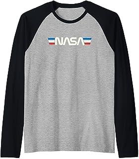 Badge spatial rétro vintage Astronomie NASA Manche Raglan