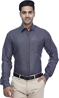 Wildemark Men's Silver Grey Casual Shirt Full Sleeve