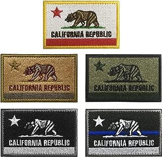 WZT 5 pcs California Tactical Patch - Military Morale Patches
