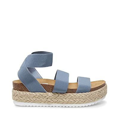 Steve Madden Kimmie Espadrille Sandal (Dusty Blue) Women