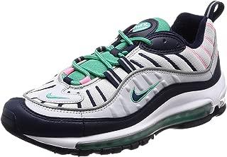 Men's AIR MAX 98 Shoe Pure Platinum/Obsidian/Green