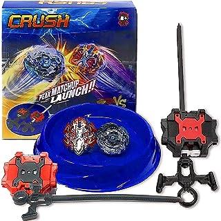 Crush Battling Burst Game Tops Starter Set (1 Small Arena + 2 Launchers Included + 2 Spin Burst Tops) B-85 Killer Deathscyther / Doomscizor & Xcalibur / Xcalius Burst B-120