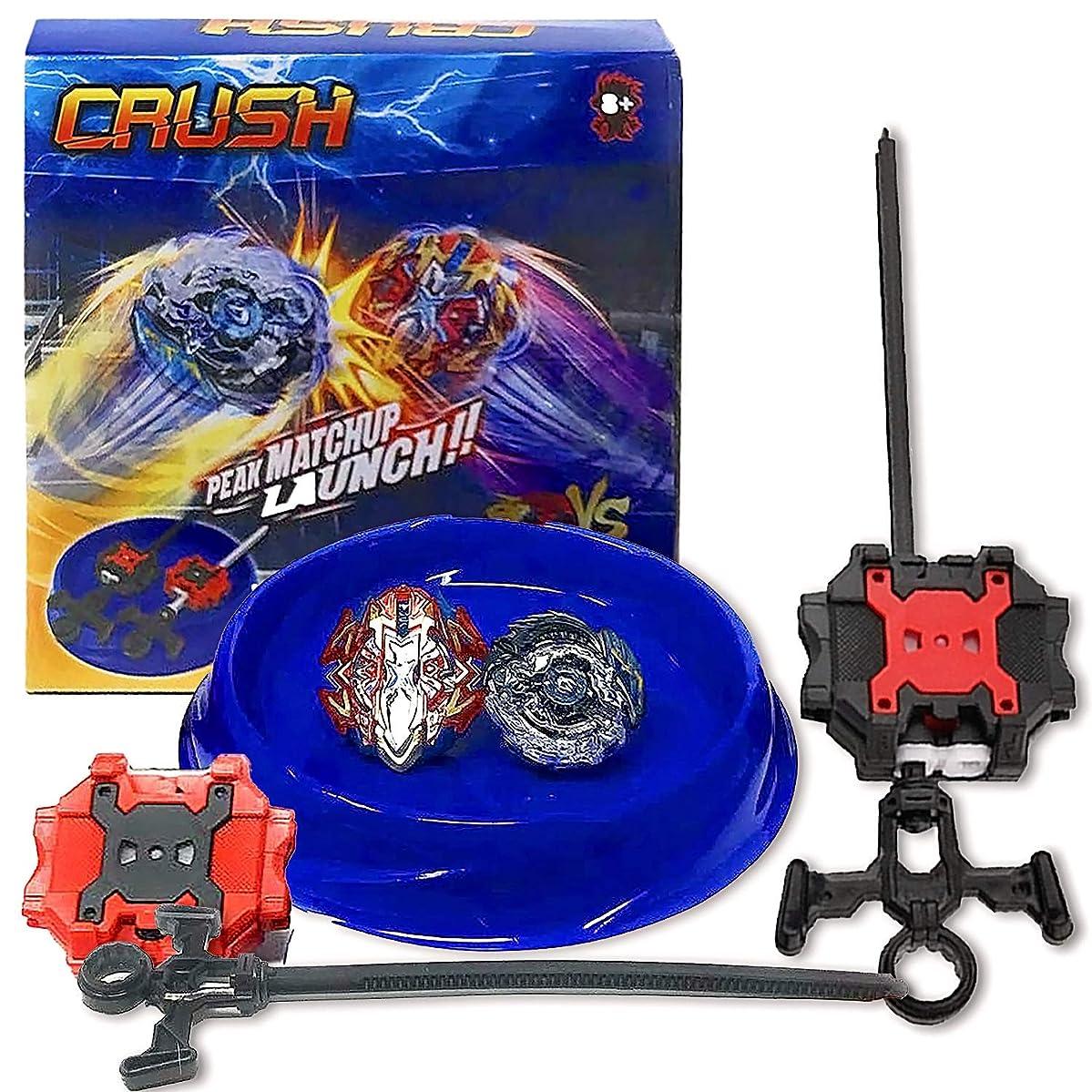 ところで生き物修復Crush Blades バトルゲームバーストトップススターターセット(スモールアリーナ1個+ランチャー2個+バーストトップ2個)B-85キラーデスサイザー/ドームシザー&Xcalibur / Xcalius Burst B-120