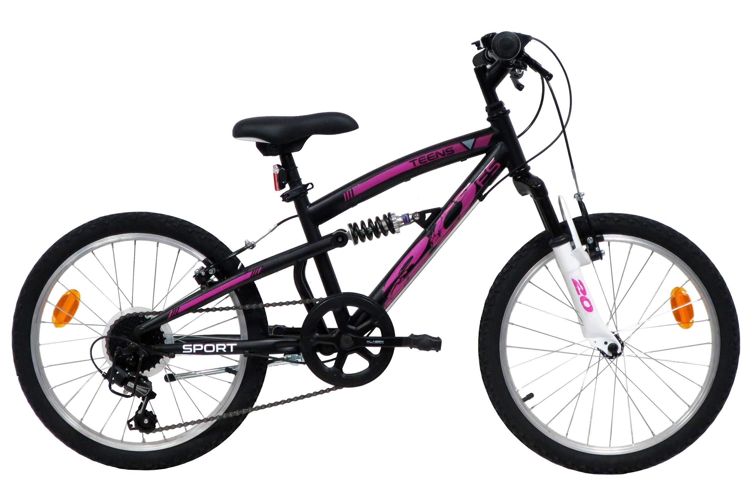 Teens - Bicicleta de montaña para niño de 20 pulgadas, con 6 ...
