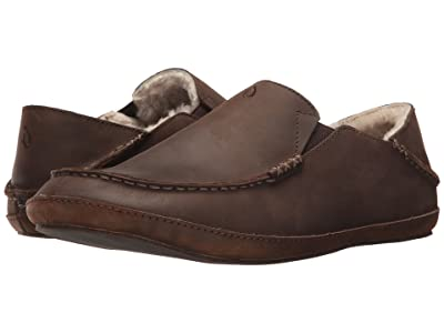 OluKai Moloa Slipper (Dark Wood/Dark Wood) Men