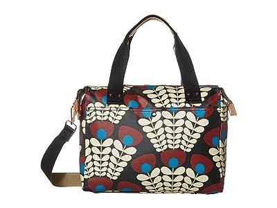 Orla Kiely Bunch of Stems Zip Messenger (Plum) Satchel Handbags