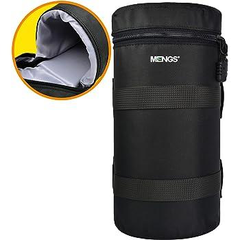 MENGS FY-6 800D Nylon Objektivbeutel Verdicken Schutz Gepolsterte Kamera Objektivtaschen für DSLR Digitalkamera Objektive