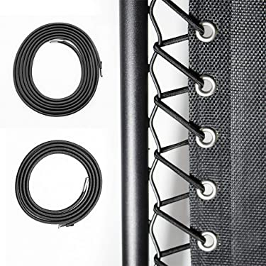 DREAM ART 4 Pcs Universal Replacement Cords/Strings for Zero Gravity Chair,Recliners, Zero Gravity Chairs Repair Tool Kit for Lounge Chair/Anti Gravity Chair,Bungee Chair - One Chair Kit,Black-Dark