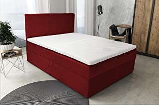 Best For Home Lit boxspring S Deluxe avec 7 tailles de zone (140x200 rouge)