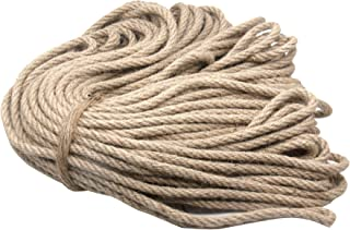 YAVO-EU Corde de Jute,50m Naturelle Ficelle Corde en Chanvre pour Bricolage, Jardinage, Entretien, Emballage, Arts Créatif...