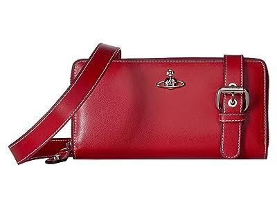 Vivienne Westwood Matilda Zip Round Crossbody (Red) Cross Body Handbags