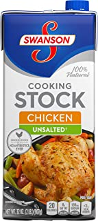 SwansonUnsalted Chicken Stock, 32 oz. (Pack of 12)