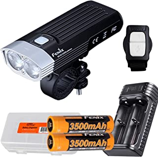 Fenix BC30 v2 2200 Lumen Dual Beam Bicycle Light with Wireless Remote Two 3500mAh Rechargeable Batteries, Dual Slot Charge...