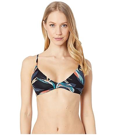 Roxy Print Beach Classics Fashion Fix Triangle Top (Anthracite Tropicoco) Women