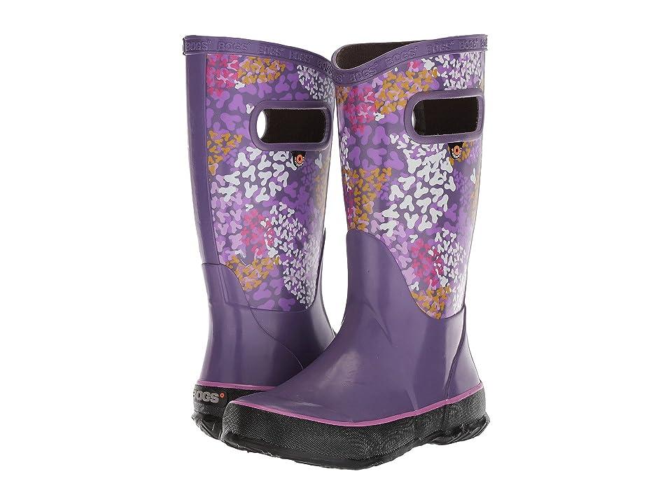 Bogs Kids Rain Boot Footprints (Toddler/Little Kid/Big Kid) (Purple Multi) Girls Shoes