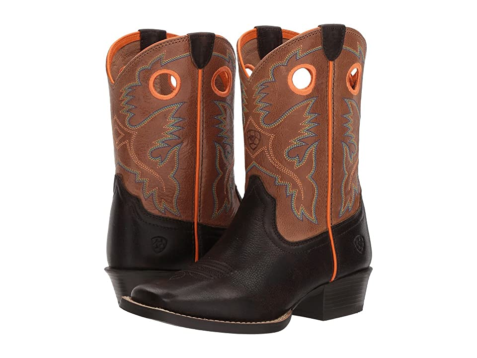 Ariat Kids Heritage Roughstock (Toddler/Little Kid/Big Kid) (Dark Java/Light Saddle) Cowboy Boots