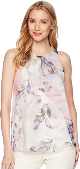 Sleeveless Diffused Blooms Blouse