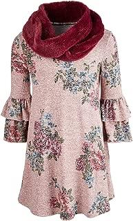 Beautees Big Girls 2-Pc. Swing Dress & Faux Fur Scarf Set
