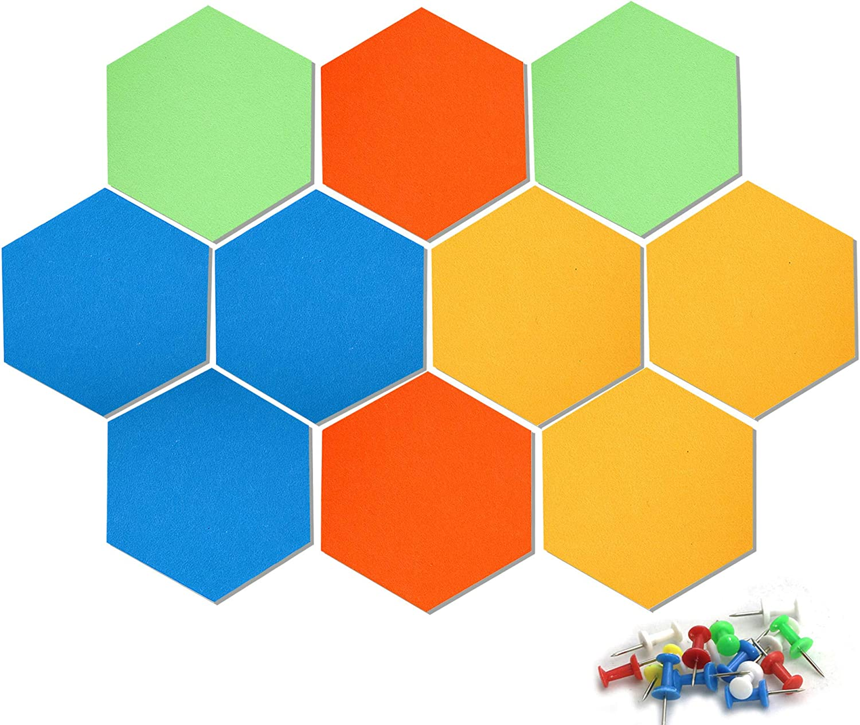 New product! New type VANCORE Set of 10 Felt Bulletin Decorations Board Hexagon Tiles Surprise price