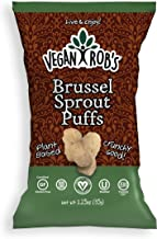 Vegan Rob's Puffs, Brussel Sprout | Gluten-Free Snack, Plant Based, Vegan, Zero Trans Fats, Non GMO | 1.25 Ounce Snack Size Bags (24 Count)
