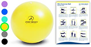 Mini Exercise Ball – 9 Inch Small Bender Ball for Stability, Barre, Pilates, Yoga,..