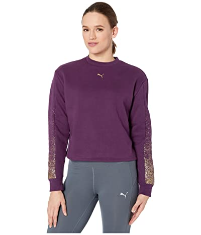 PUMA Holiday Pack Crew Fleece Sweatshirt (Plum Purple) Women