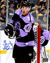 Brad Marchand Boston Bruins Signed Hockey Fights Cancer Warm Up Jersey 8x10 V