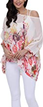 iNewbetter Womens Floral Batwing Sleeve Chiffon Beach Loose Blouse Tunic Tops