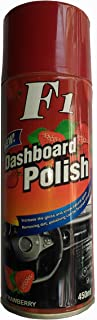 f22 Car Dashboard Wax Spray for Leather Seat, Plastic and Rubber (Strawberry Fragrance)