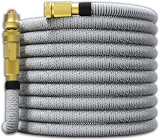 """TITAN 100FT Garden Hose - All New Expandable Water Hose with Dual Latex Core 3/4"""" Solid Brass Fittings Expanding Extra Str..."""