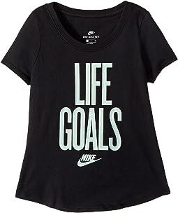 Nike Kids - Sportswear Life Goals Scoop Tee (Little Kids/Big Kids)