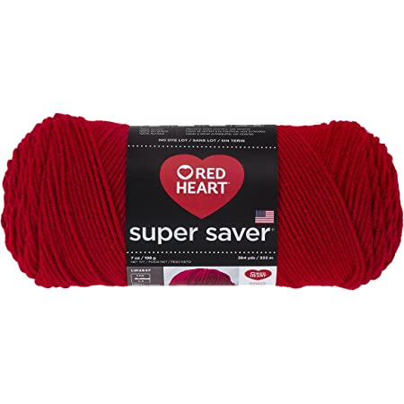 Red Heart Super Saver Bright Persimmon Pink 7 oz 100/% Acrylic Worsted Wt #4.NDL