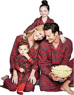 Matching Pajamas Christmas Boys Girls Womens Mens Fall Winter Sleepwear Holiday PJs Sets for Family Red Plaid