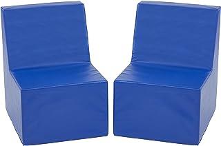 ECR4Kids Softzone Toddler Chair, Blue (2-Pack)