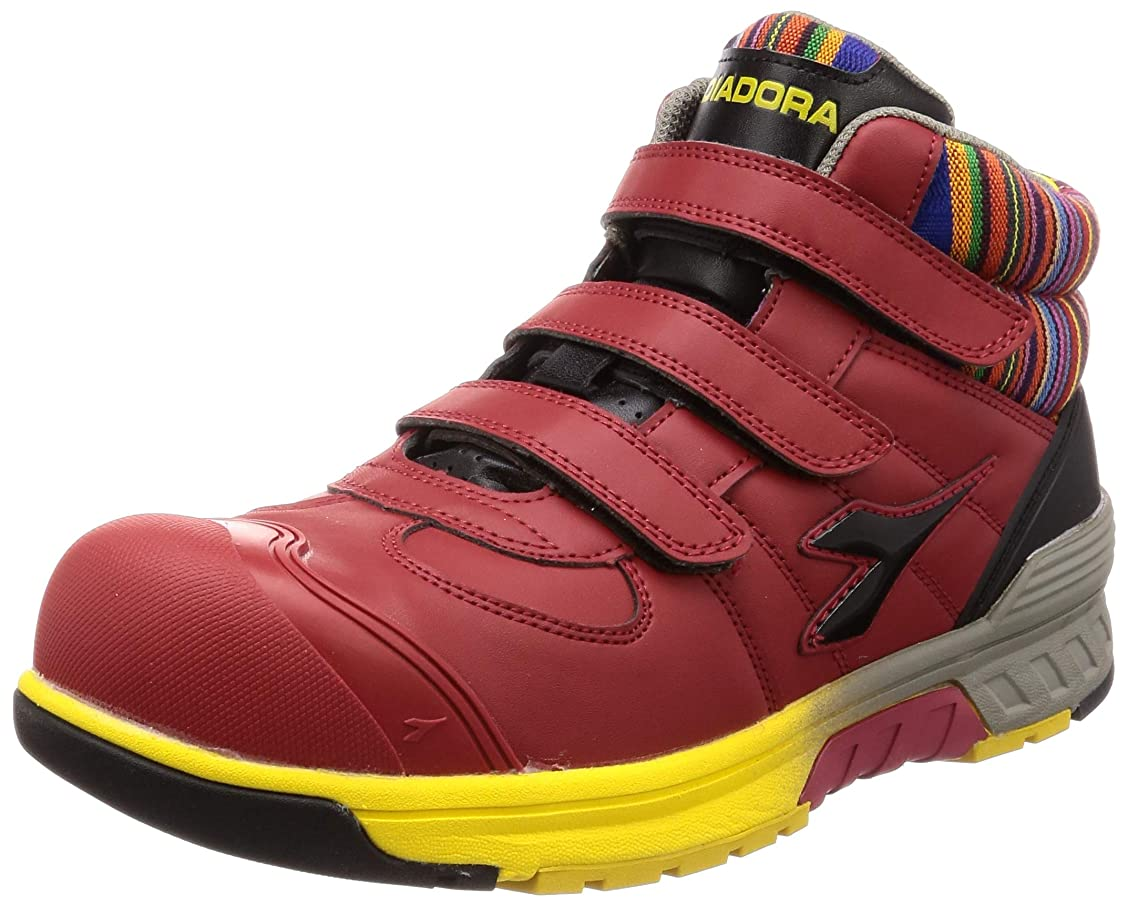 風景苦日[ディアドラユーティリティ] 安全作業靴 JSAA認定 ハイカット プロスニーカー STELLERJAY ステラジェイ レッド&ブラック 28 cm 3E