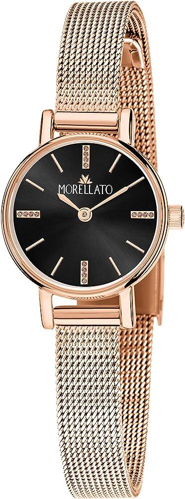 Morellato, orologio da donna,in acciaio e pvd oro rosa R0153142529