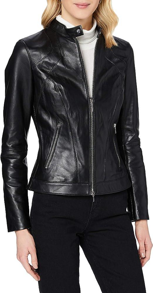 Hugo boss, giacchetta di pelle per donna donna 50443911
