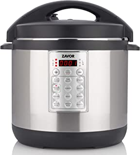 Zavor Select 6 Quart Electric Pressure Cooker and Rice Cooker with Non-stick Inner Cooking Pot and Brushed Stainless Steel Finish (ZSESE01)