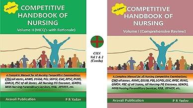 Competitive Handbook of Nursing Vol 1 2 Combo English by PR Yadav Best Nursing Guide Combo