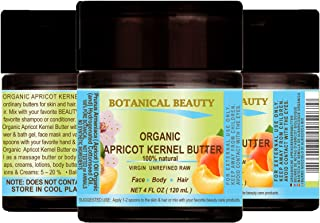 ORGANIC APRICOT KERNEL OIL BUTTER Australian. 100 % Natural / VIRGIN / UNREFINED / RAW. 4 Fl.oz.- 120 ml. For Skin, Hair and Nail Care.