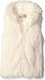 Girls' Shaggy Faux Fur Hooded Vest