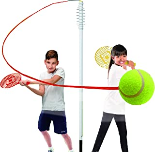 KreativeKraft Juego De Tenis De Tiro Clásico con 2 Raquetas, Poste De Espiral Y Pelota De Tenis | Deportes De Raqueta De Niños | Deportes De Fácil Montaje Y Juegos De Jardin