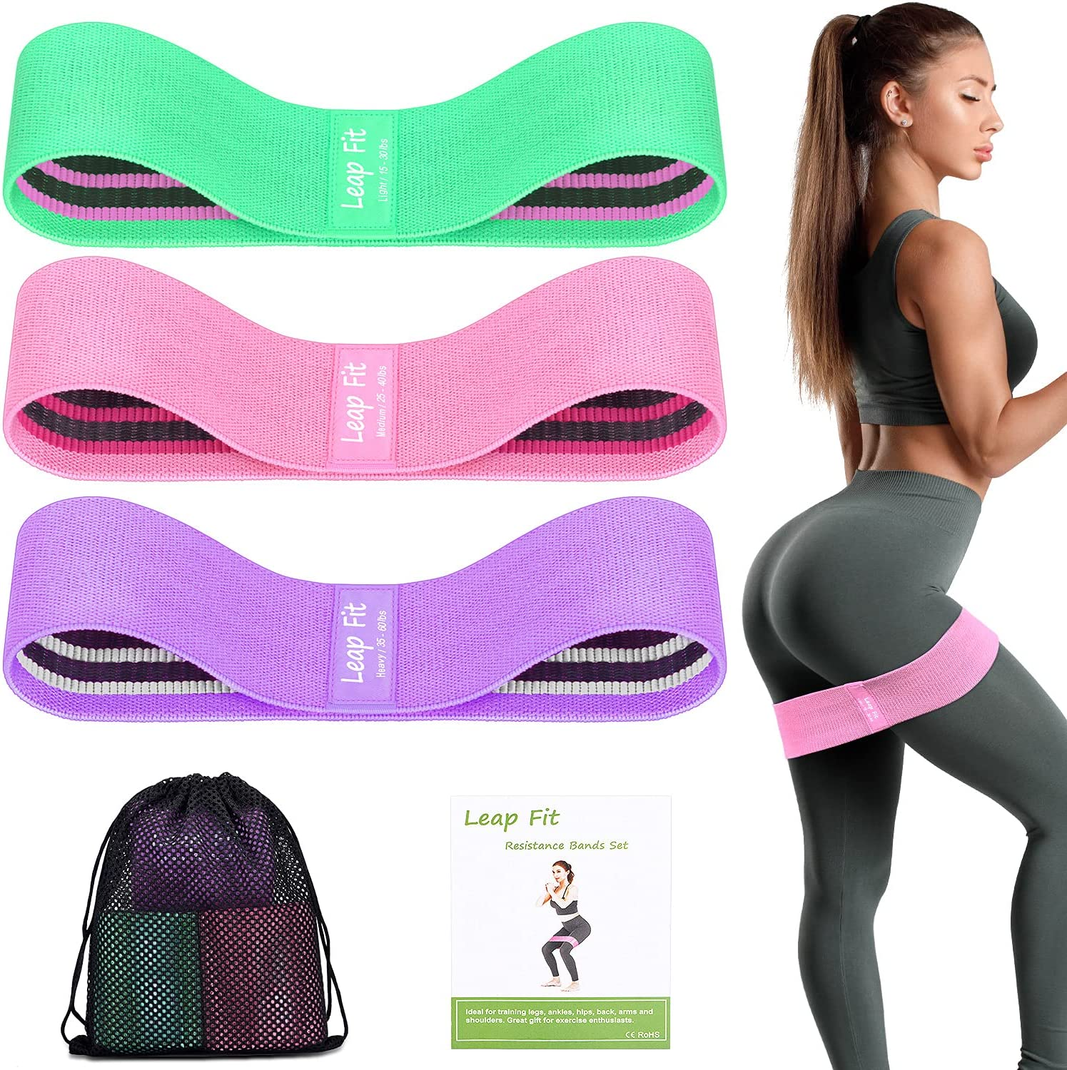 Max 53% OFF Resistance Bands for Women Men Leap Booty Fit Exerci Inventory cleanup selling sale Premium