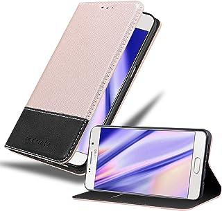 Cadorabo Book Case Works with Samsung Galaxy A5 2016 Wallet Etui Cover ROSE GOLD BLACK DE-108986