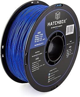 HATCHBOX ABS 3D Printer Filament, Dimensional Accuracy +/- 0.3 mm, 1 kg Spool, 1.75 mm, Blue