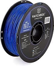 HATCHBOX ABS 3D Printer Filament, Dimensional Accuracy +/- 0.03 mm, 1 kg Spool, 1.75 mm, Blue