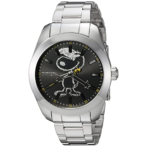96f0975c0a Invicta 24936 Character - Snoopy Men's Wrist Watch Stainless Steel Quartz  Black Dial